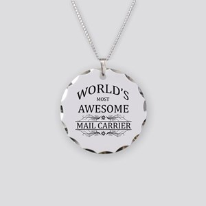 World's Most Awesome Mail Carrier Necklace Circle