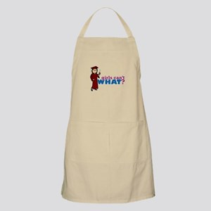Cap and Gown Girl Apron