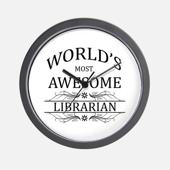 World's Most Awesome Librarian Wall Clock