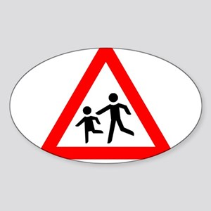 Caution: Slow Child Playing Sticker