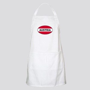 Austrian Oval Flag on BBQ Apron
