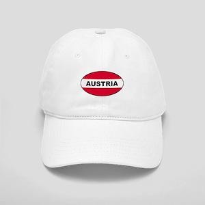 Austrian Oval Flag on Cap