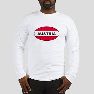 Austrian Oval Flag on Long Sleeve T-Shirt