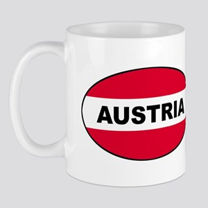 Austrian Oval Flag on Mug