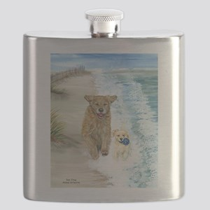 Golden Surf runners Flask