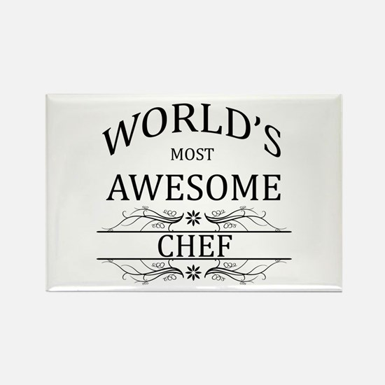 World's Most Awesome Chef Rectangle Magnet (100 pa