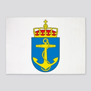 Coat of arms of the royal norwegian 5'x7'Area Rug