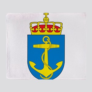 Coat of arms of the royal norwegian Throw Blanket