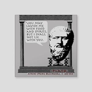 Platonic Love 3x3 Sticker