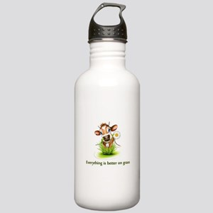 Everything is better on grass Water Bottle