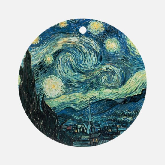 Starry Night Vincent Van Gogh Ornament (Round)