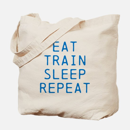 Eat Train Sleep Repeat Tote Bag