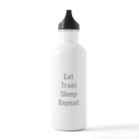Eat Train Sleep Repeat Water Bottle
