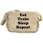 Eat Train Sleep Repeat Messenger Bag