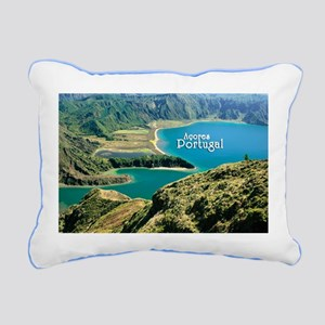 Lagoa do Fogo Rectangular Canvas Pillow