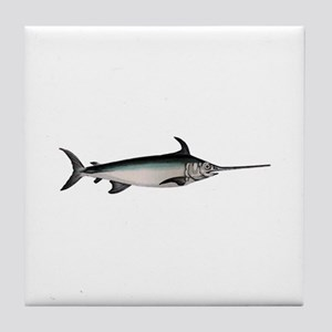 Swordfish Logo Tile Coaster