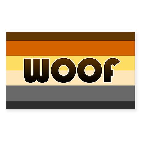 Bear 'Woof' Sticker