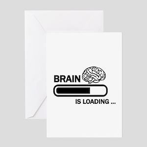 Brain loading Greeting Card