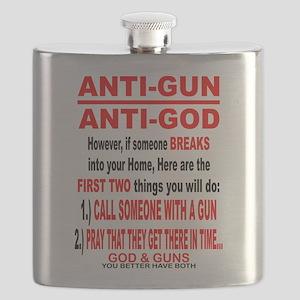 GOD and GUNS Flask
