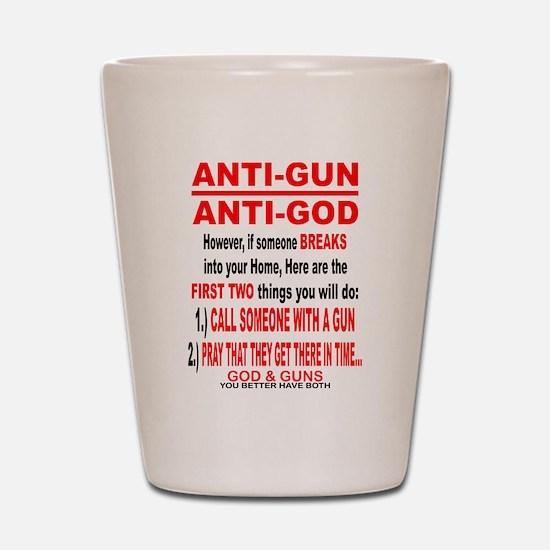 GOD and GUNS Shot Glass
