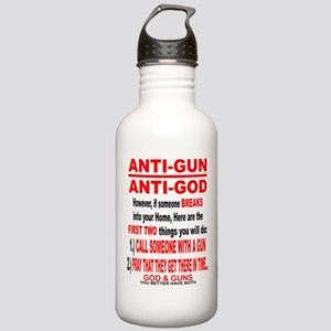 GOD and GUNS Water Bottle