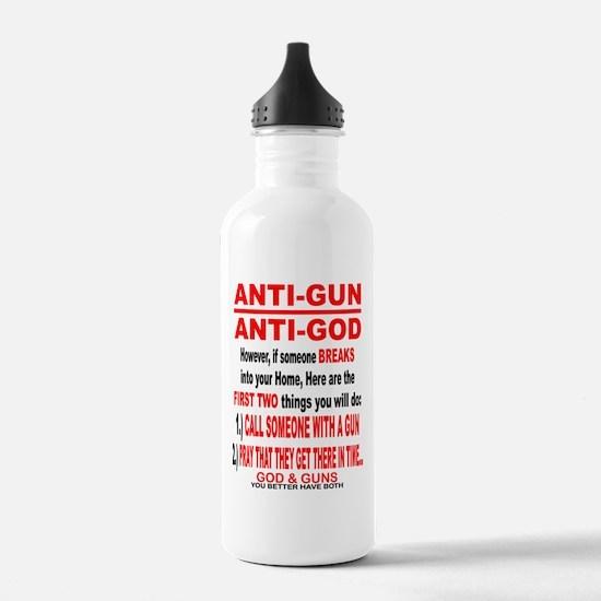 GOD and GUNS Water Bottle