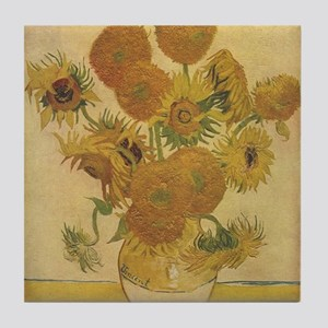 Sunflowers Vincent Van Gogh P Tile Coaster