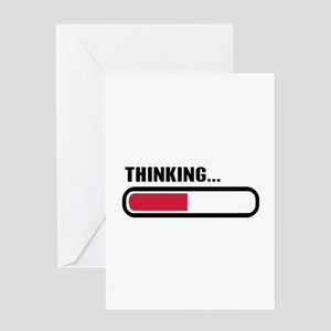 Thinking loading Greeting Card