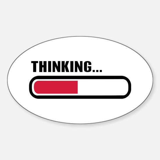 Thinking loading Sticker (Oval)