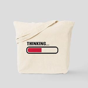 Thinking loading Tote Bag