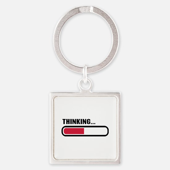 Thinking loading Square Keychain