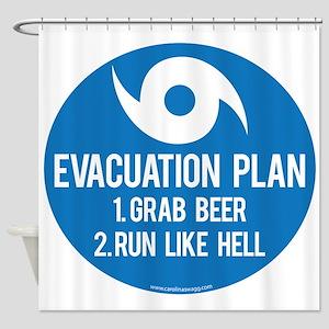 Hurricane Evacuation Plan Shower Curtain