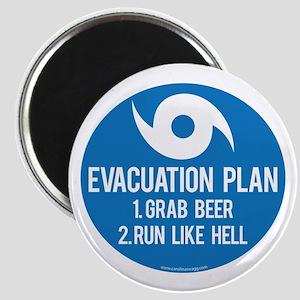 Hurricane Evacuation Plan Magnet