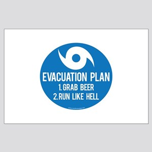 Hurricane Evacuation Plan Posters