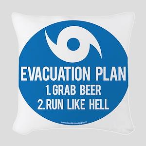 Hurricane Evacuation Plan Woven Throw Pillow