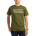 Keep Thor In Thursday Organic Men's T-Shirt (dark)