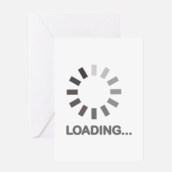 Loading bar internet Greeting Card