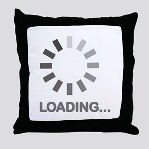 Loading bar internet Throw Pillow