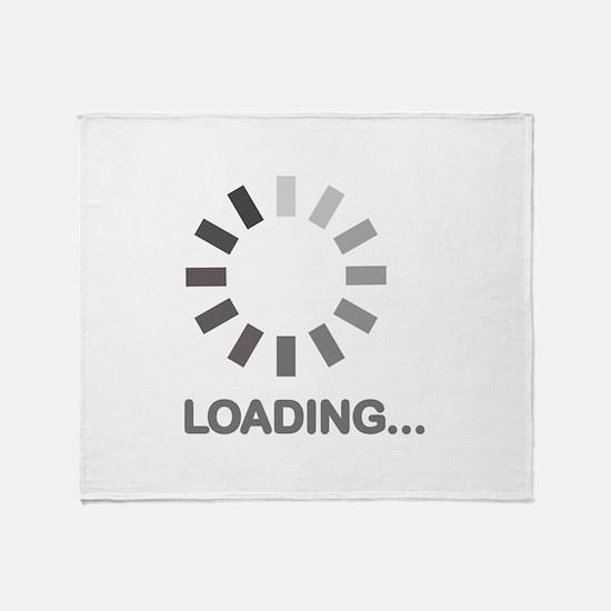 Loading bar internet Throw Blanket