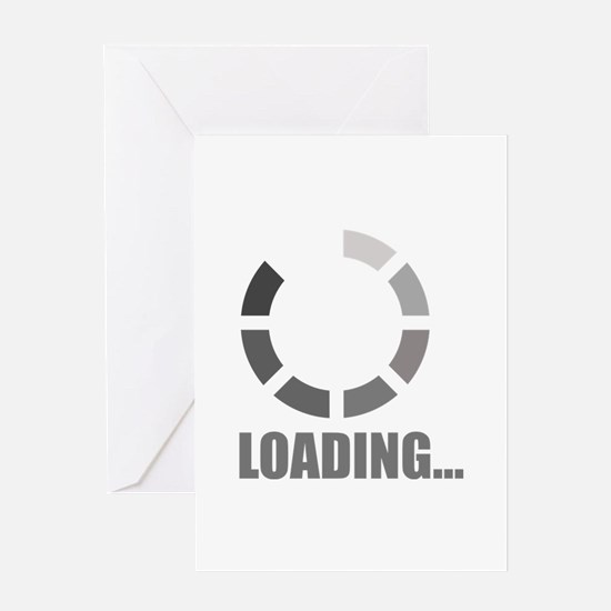 Loading bar Greeting Card