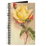 Yellow Rose Victorian Floral Journal
