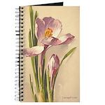 Victorian Flowers Purple Lave Journal