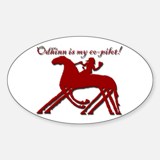 Odhinn is My Co-Pilot! - Oval Decal