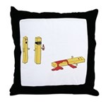 The French Fry Bandit Throw Pillow