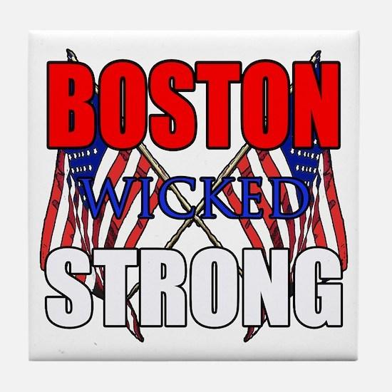 Boston wicked Strong 2 Tile Coaster