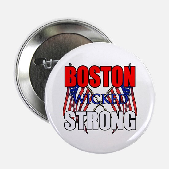 "Boston wicked Strong 2 2.25"" Button (10 pack)"