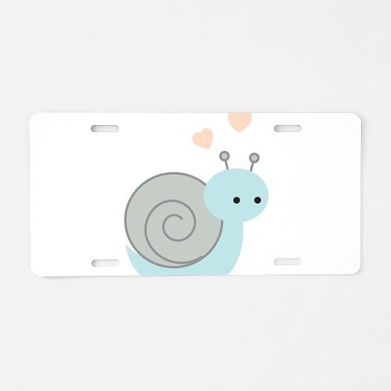 Lovely Snail Aluminum License Plate