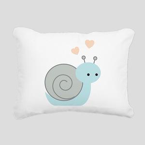 Lovely Snail Rectangular Canvas Pillow