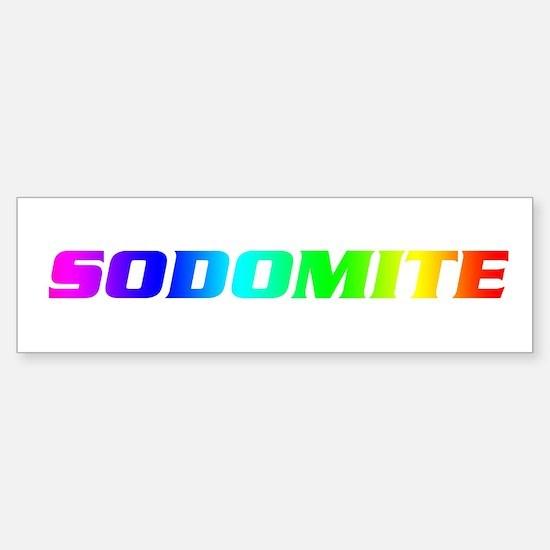 Sodomite Bumper Bumper Bumper Sticker