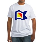 POYC Burgee Wave Wht Border T-Shirt
